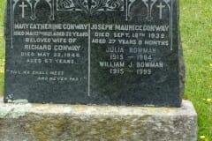 Conway, Mary & Richard & Joseph; Bowman, Julia & William,