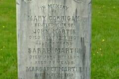 Corrigan, Mary; Martin, John & Sarah & Margaret & Jane