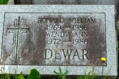 Dewar, Ronald & Wendy Ann