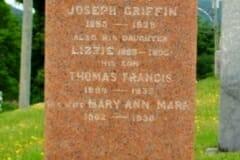 Griffin, Joseph & Lizzie & Thomas; Mahar, Mary Ann