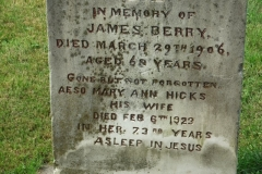 Berry, James & Hicks, Mary Ann