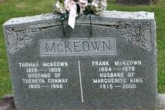 McKeown, Thomas & Frank; Conway, Theresa; King, Marguerite